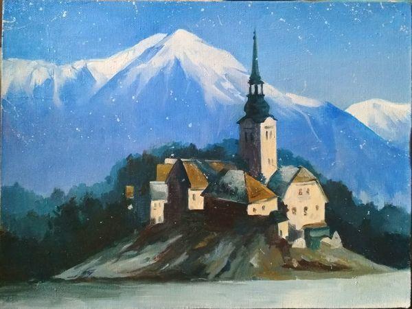 Пишем маслом на холсте картину «Зима» | Ярмарка Мастеров - ручная работа, handmade