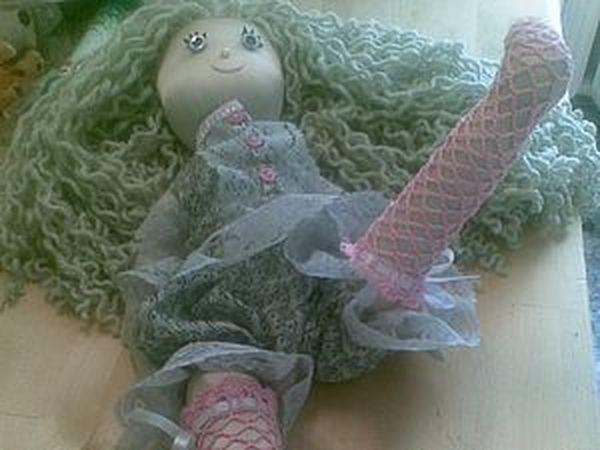 Ажурные чулочки для куколки   Ярмарка Мастеров - ручная работа, handmade
