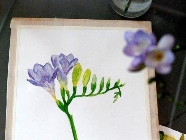 Цветы акварелью с натуры! | Ярмарка Мастеров - ручная работа, handmade
