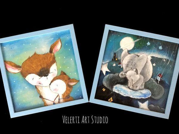Акция! 2 Картины в Детскую Всего за 1500 рублей!   Ярмарка Мастеров - ручная работа, handmade