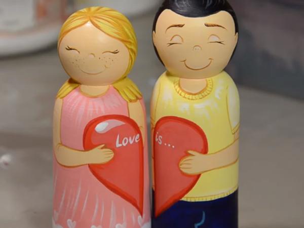 Создаем подарок ко Дню всех влюбленных, парочка в стиле Love is   Ярмарка Мастеров - ручная работа, handmade