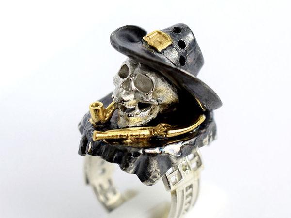 Последний косячок — кольцо миниатюра в готическом стиле | Ярмарка Мастеров - ручная работа, handmade