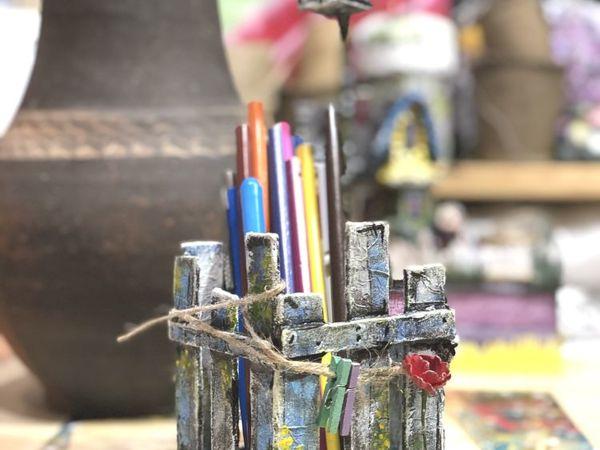 Making Cozy Pencil Box from Cardboard | Livemaster - handmade