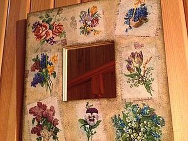 Мастер-класс по декупажу «Старое зеркало «Воспоминание весны» | Ярмарка Мастеров - ручная работа, handmade