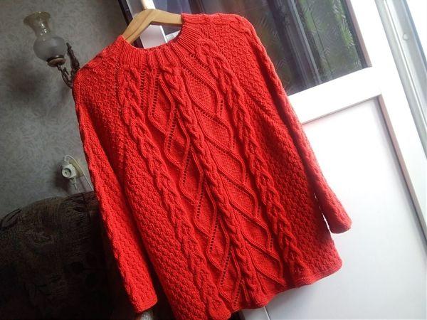 Моя новая работа — яркий хлопковый свитер   Ярмарка Мастеров - ручная работа, handmade