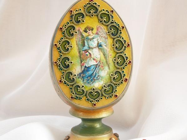 Декорируем пасхальное яйцо «Ангел» | Ярмарка Мастеров - ручная работа, handmade