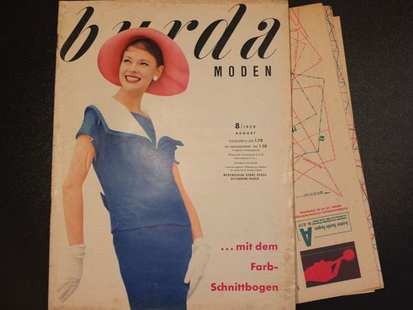 Burda moden 8/1959 Бурда моден | Ярмарка Мастеров - ручная работа, handmade