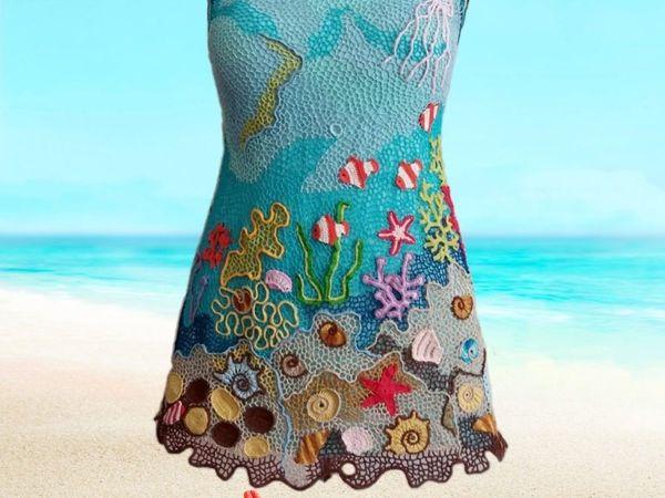 Пляжная туника в ирландском кружеве | Ярмарка Мастеров - ручная работа, handmade