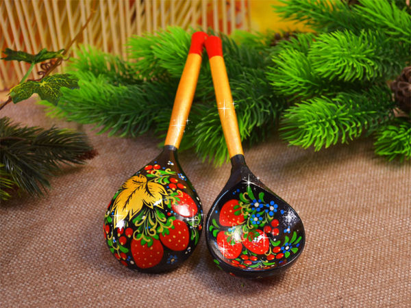 Video Tutorial: Spoon with Khokhloma Pattern | Livemaster - handmade