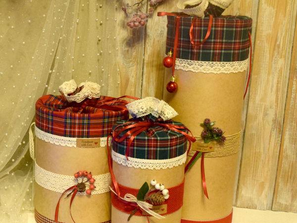 Создаем оригинальную коробку для рождественского подарка | Ярмарка Мастеров - ручная работа, handmade