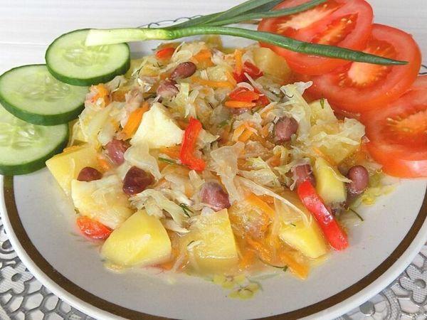 Как приготовить овощное рагу с картошкой, капустой и фасолью   Ярмарка Мастеров - ручная работа, handmade