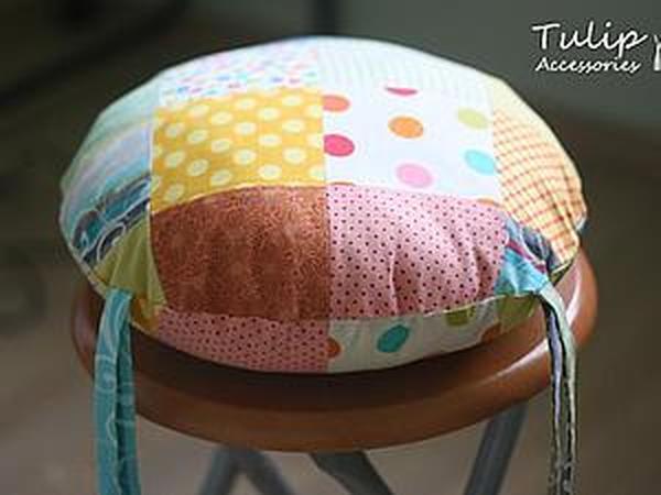 Мастер-класс: Подушка-сидушка лоскутная   Ярмарка Мастеров - ручная работа, handmade