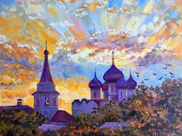 Православная Русь — новые пейзажи маслом | Ярмарка Мастеров - ручная работа, handmade