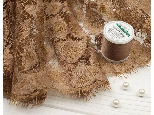 Кружевное полотно в песочном оттенке | Ярмарка Мастеров - ручная работа, handmade