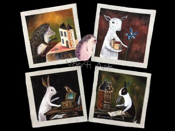 Ауецион на набор Купонов  «Лесные жители»  4 шт | Ярмарка Мастеров - ручная работа, handmade