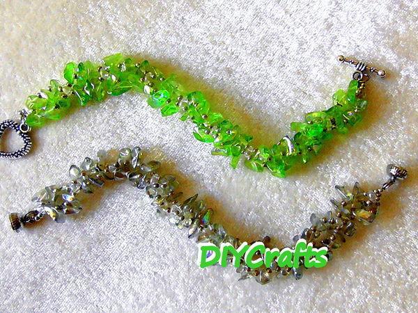 Мастерим браслет из бисера и каменной крошки | Ярмарка Мастеров - ручная работа, handmade