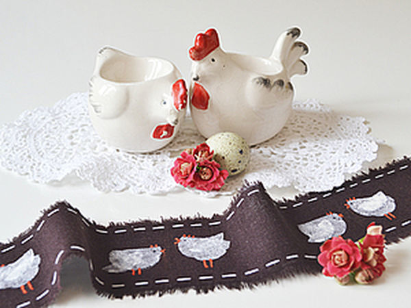How to Make a Decorative Сock-a-Doodle-Doo Ribbon on Your Own | Livemaster - handmade