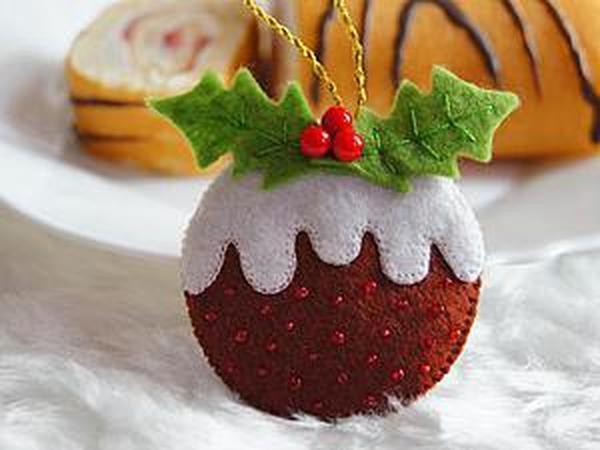 Шьем подвеску на ёлку «Рождественский пудинг» | Ярмарка Мастеров - ручная работа, handmade