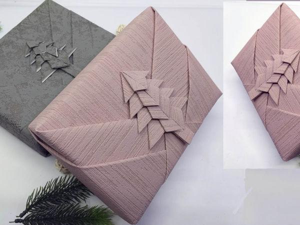 Упаковываем подарок на Новый год.  Вариант 1 | Ярмарка Мастеров - ручная работа, handmade