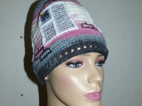 Новая шапочка Домик | Ярмарка Мастеров - ручная работа, handmade