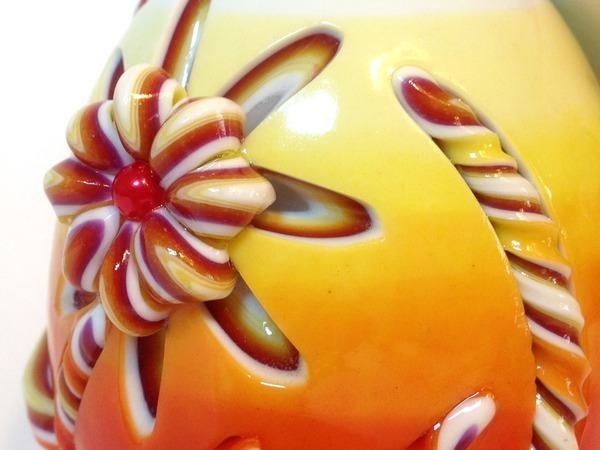 Яркая пасхальная резная свеча своими руками | Ярмарка Мастеров - ручная работа, handmade