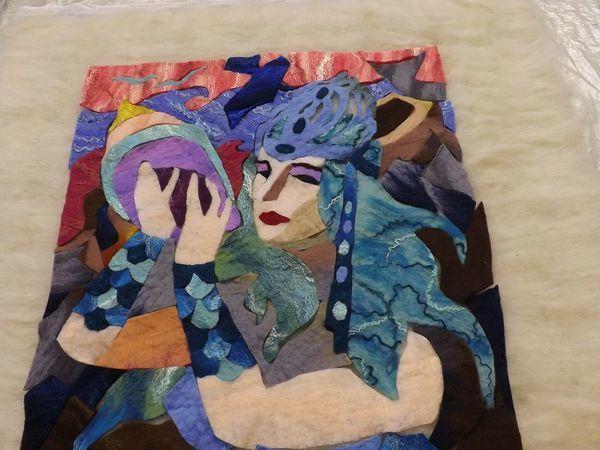 Валяем портрет в технике шерстяная мозаика | Ярмарка Мастеров - ручная работа, handmade