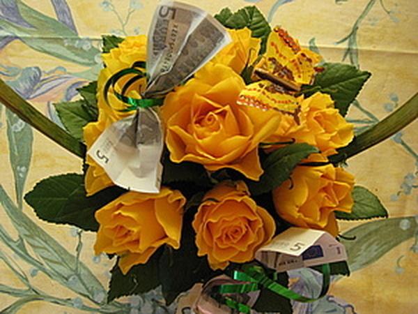 Корзинка с розами. Подарочный вариант. | Ярмарка Мастеров - ручная работа, handmade