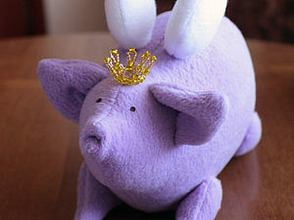 Простые бисерные корона и нимб для игрушек | Ярмарка Мастеров - ручная работа, handmade