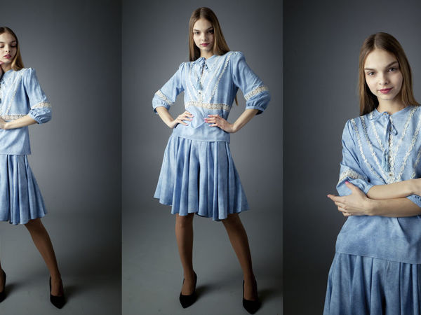 Бохо блузка и юбка шорты | Ярмарка Мастеров - ручная работа, handmade