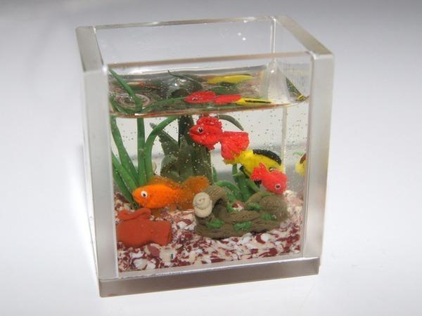 Видео мастер-класс: аквариум в кукольный домик | Ярмарка Мастеров - ручная работа, handmade