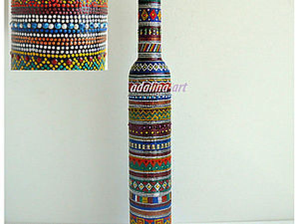 Геометрический узор - роспись Point-to-point   Ярмарка Мастеров - ручная работа, handmade