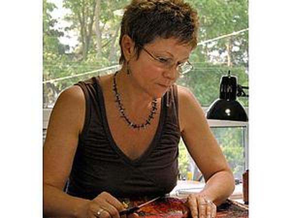 Торжество природы в текстильной живописи Lorraine Roy   Ярмарка Мастеров - ручная работа, handmade