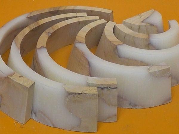 Эксперимент с эпоксидной смолой: создаем деревянную радугу | Ярмарка Мастеров - ручная работа, handmade