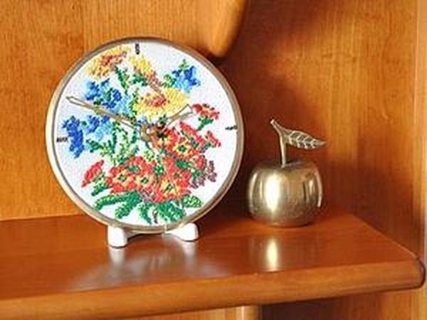 Мастер-класс: Часы со старинной вышивкой   Ярмарка Мастеров - ручная работа, handmade