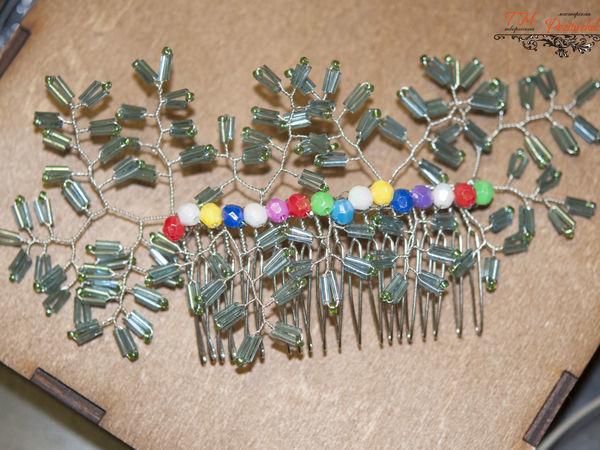 Создаем яркий гребень «Новогодняя ёлочка»   Ярмарка Мастеров - ручная работа, handmade