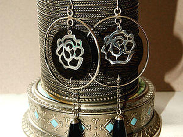 Создание вечерних серег с медальонами из дерева 2часть   Ярмарка Мастеров - ручная работа, handmade