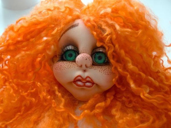 Пришиваем кукле волосы из натуральной шерсти | Ярмарка Мастеров - ручная работа, handmade