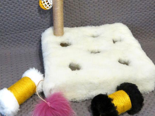 Игрушки для котов как в магазине своими руками | Ярмарка Мастеров - ручная работа, handmade