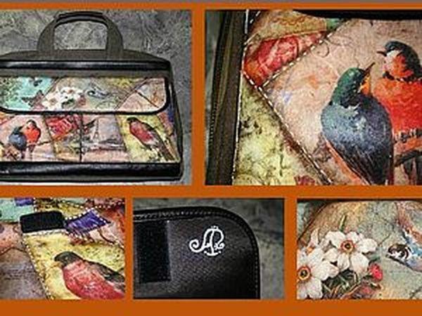 Декупажный пэчворк: декорируем сумку для ноутбука.   Ярмарка Мастеров - ручная работа, handmade