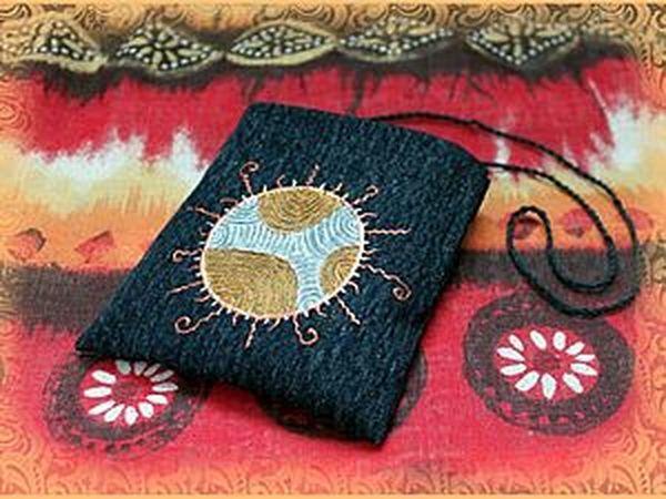 Маленькая сумка MOJO в технике росписи джинсовой ткани | Ярмарка Мастеров - ручная работа, handmade