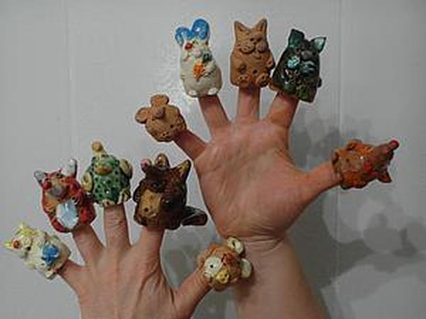 Видео мастер-класс: лепим пальчиковый театр зверюшек из глины | Ярмарка Мастеров - ручная работа, handmade