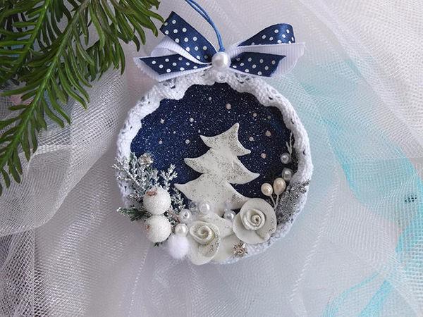 How to Make a Christmas Decoration of a Jar Lid | Livemaster - handmade