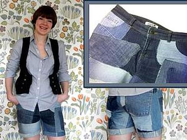 Сшить джинсовые шорты на заказ коала аппликация