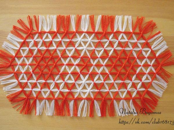 Занятие по плетению салфетки на 6-иугольной раме   Ярмарка Мастеров - ручная работа, handmade