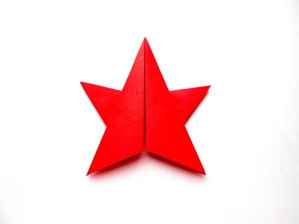 Складываем звезду из бумаги ко Дню Победы | Ярмарка Мастеров - ручная работа, handmade