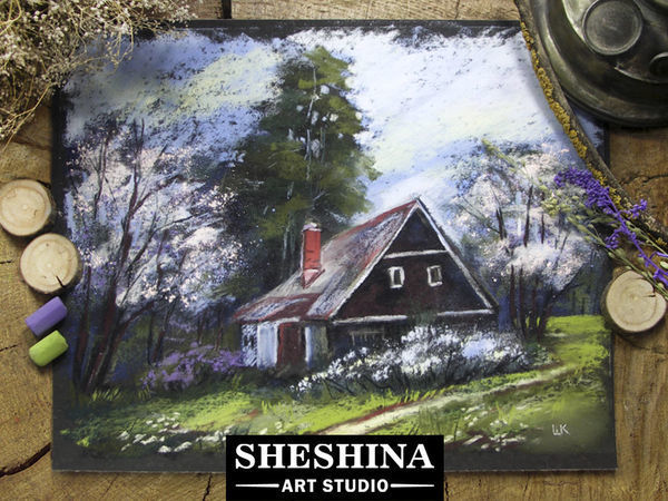Video DIY: Drawing a Spring Countryside Landscape with Dry Pastel | Livemaster - handmade