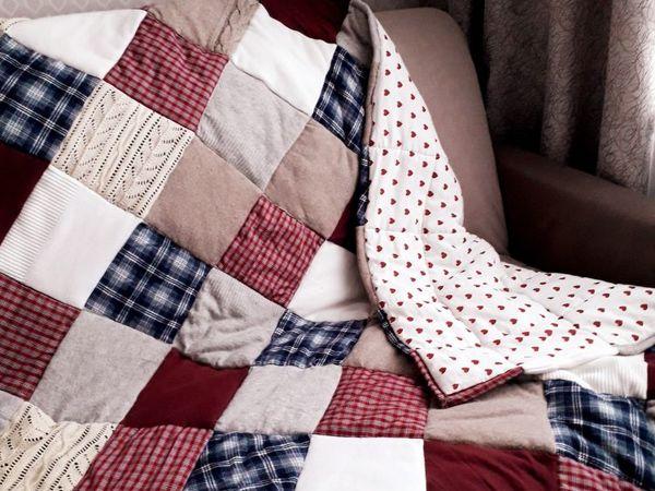 DIY Patchwork Blanket From Old Favorite Things | Livemaster - handmade