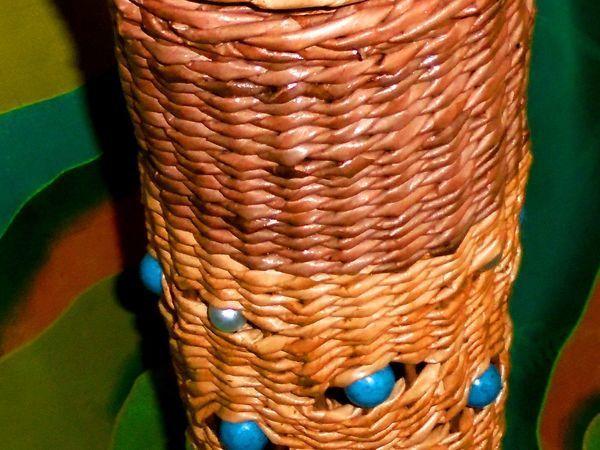 Плетём тубус из бумажных трубочек: видео мастер-класс | Ярмарка Мастеров - ручная работа, handmade
