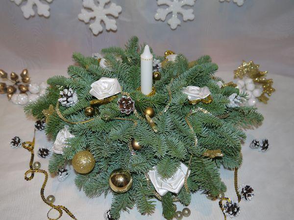 Создаем новогоднюю композицию из натуральной ели   Ярмарка Мастеров - ручная работа, handmade