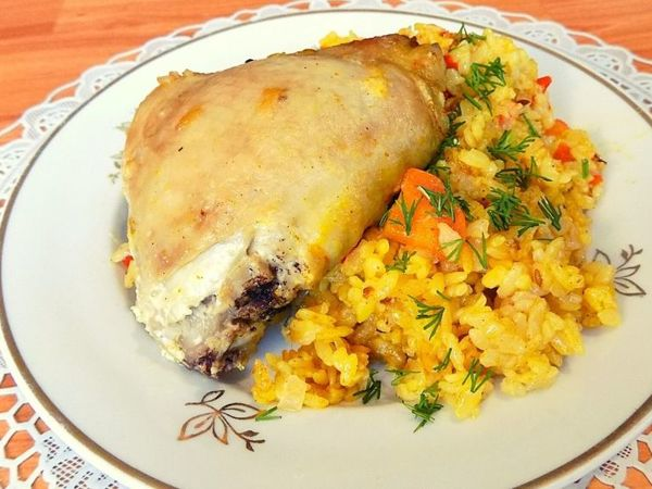 Курица с рисом и овощами в духовке в пакете | Ярмарка Мастеров - ручная работа, handmade